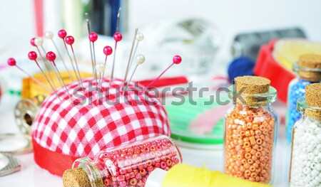 Stock photo: Sewing kit on white background
