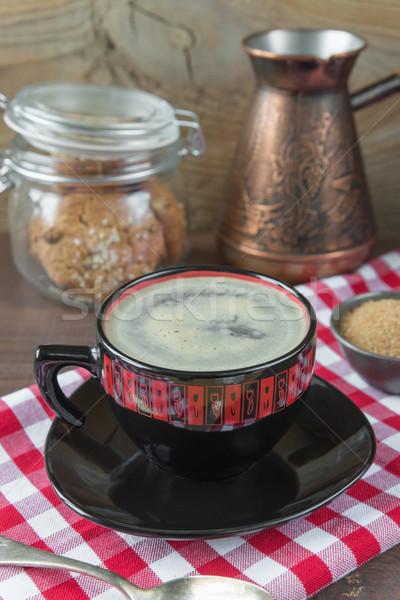 カップ コーヒー 黒 赤 白 ストックフォト © Epitavi