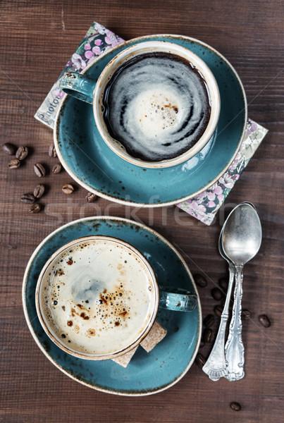 2 カップ コーヒー 先頭 表示 コーヒー豆 ストックフォト © Epitavi