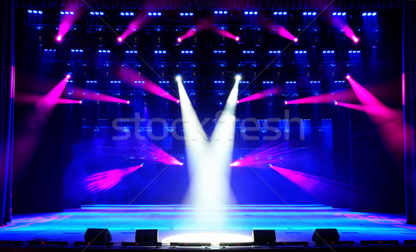 Illuminated concert stage Stock photo © Epitavi