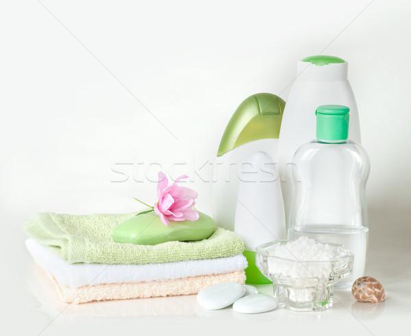 Stock photo: Various bath accessories