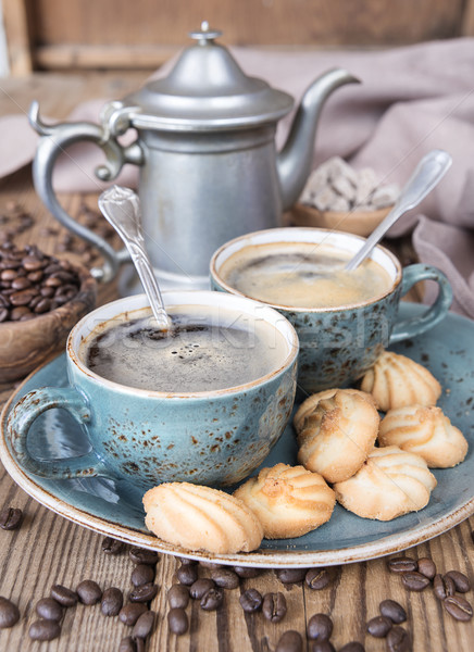 Coffee and biscuits Stock photo © Epitavi