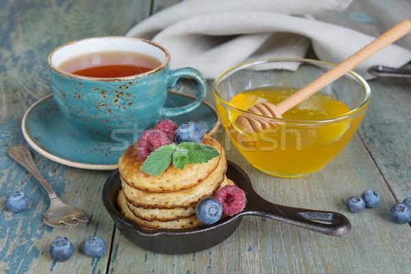 Breakfast  in rustic style Stock photo © Epitavi