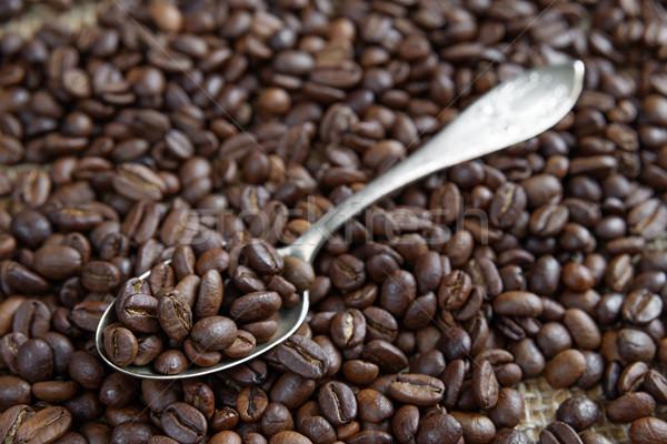 Pörkölt kávé teáskanál tea kanál háttér Stock fotó © Epitavi
