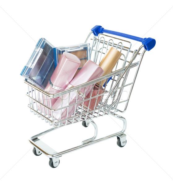 ショッピングカート 化粧品 孤立した 白 ショッピング スーパーマーケット ストックフォト © Epitavi