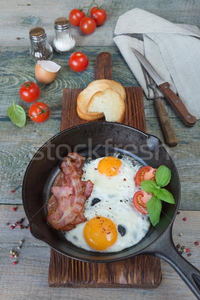 Breakfast in a rustic style Stock photo © Epitavi