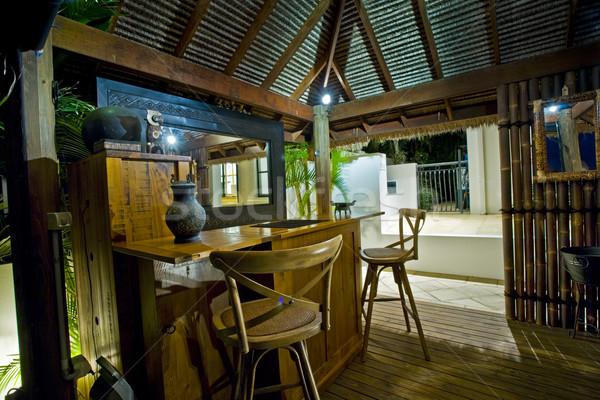 Bali cabaña bar lujoso mansión Foto stock © epstock