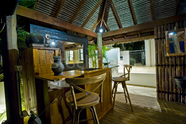 Bali hutte bar luxueux manoir externe Photo stock © epstock