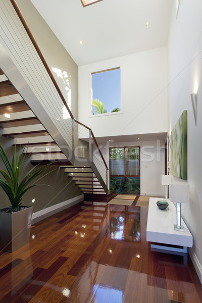 Modern house interior with staircase Stock photo © epstock