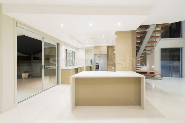 Photo stock: Modernes · blanche · cuisine · nouvelle · luxueux · maison