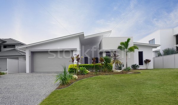 Modern townhouse exterior Stock photo © epstock