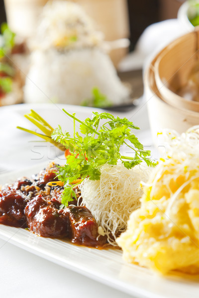 Сток-фото: азиатских · блюдо · говядины · овощей · мяса