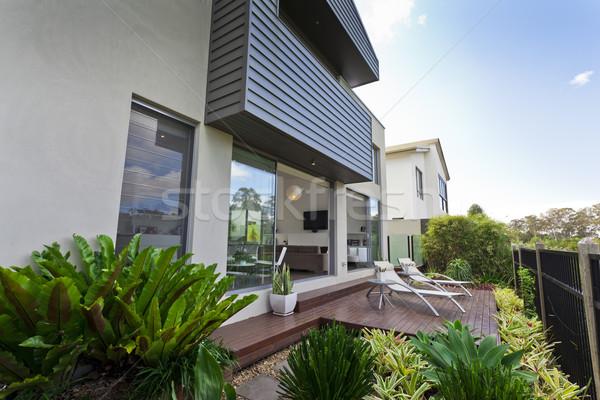 Zdjęcia stock: Nowoczesne · domu · fasada · australijczyk · otwarte · życia