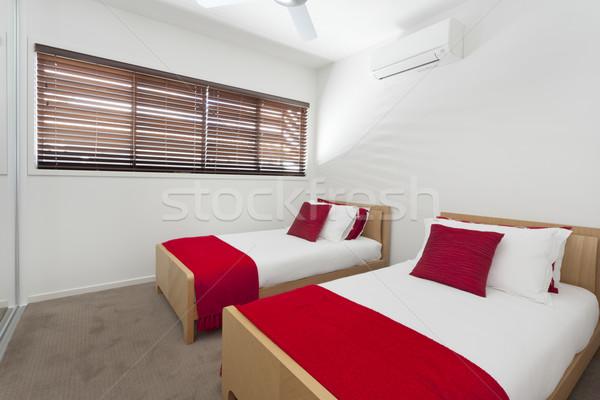 Zdjęcia stock: Bliźniak · sypialni · elegancki · nowoczesne · australijczyk · domu