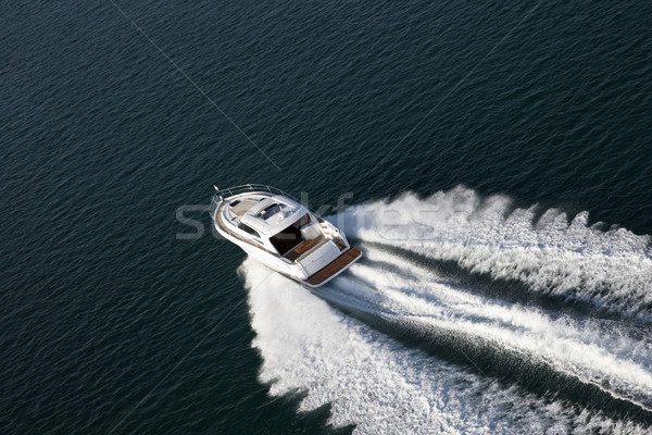 Aerial shot of a speed boat Stock photo © epstock