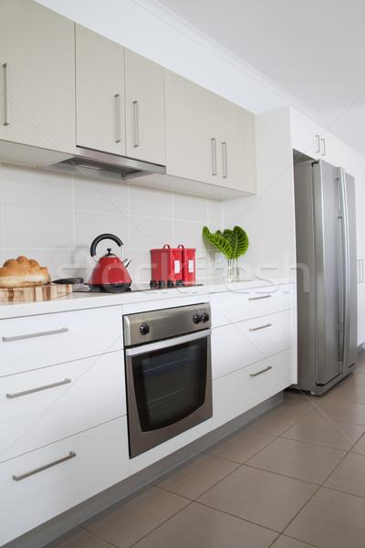 Keuken nieuwe moderne architectuur lifestyle wonen Stockfoto © epstock