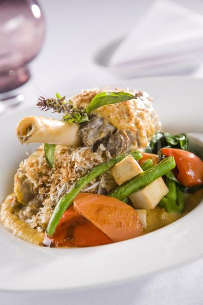 ягненка кокосового соус здоровья ресторан овощей Сток-фото © epstock