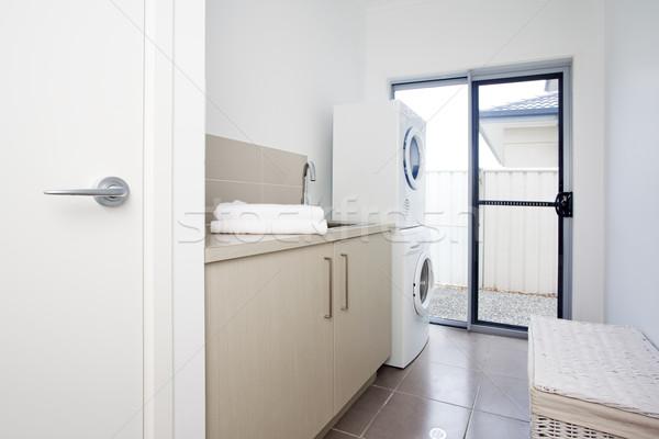 laundry room in modern townhouse Stock photo © epstock
