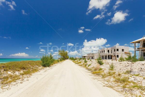Abandonné maisons plage magnifique image Photo stock © epstock