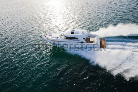 Fast motor boat approaching Stock photo © epstock