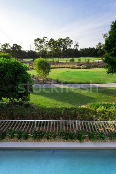 гольф мнение балкона Бассейн небе спорт Сток-фото © epstock