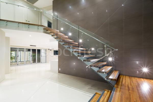 ストックフォト: 木製 · 階段 · 現代 · ホーム · 現代の · 邸宅