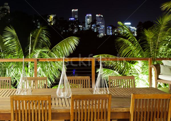 Outdoor entertaining area Stock photo © epstock