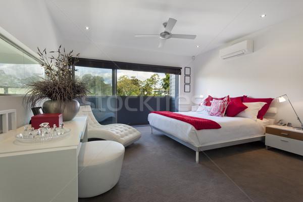 Mester hálószoba elegáns luxus ausztrál palota Stock fotó © epstock