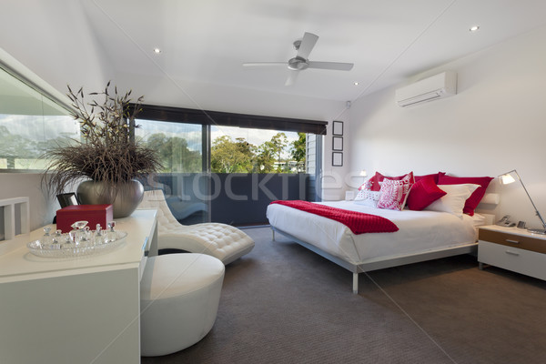 Maître chambre élégant luxe manoir Photo stock © epstock