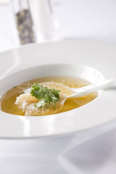 Soup with dumpling Stock photo © epstock