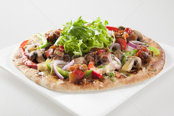 SPICY GOURMET EGGPLANT AND CAPSICUM PIZZA Stock photo © epstock