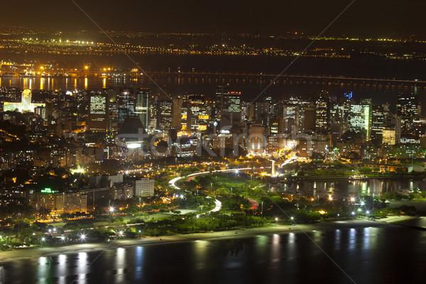 Rio de Janeiro Brazilië nacht suiker brood berg Stockfoto © epstock