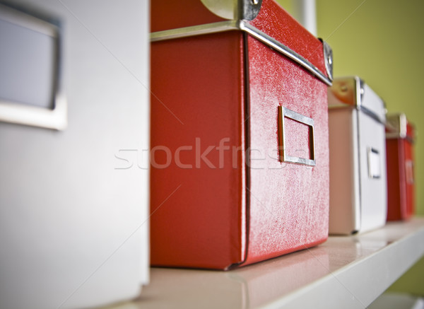 corporate archive boxes on shelf Stock photo © epstock