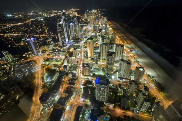 night scene of the gold coast from the high rise building Q1 Stock photo © epstock
