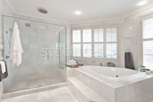 Belle modernes salle de bain manoir marbre Photo stock © epstock