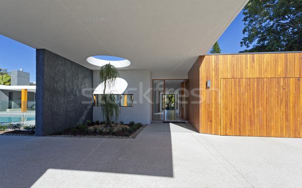 Stockfoto: Entree · herenhuis · moderne · australisch · huis
