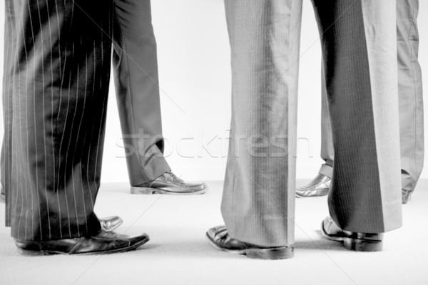 группа корпоративного мужчин Костюмы обувь Сток-фото © epstock