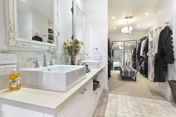 Contemporary Bathroom with Walk in Robe Stock photo © epstock