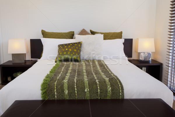 Zdjęcia stock: Podwoić · sypialni · elegancki · australijczyk · dwór · okno