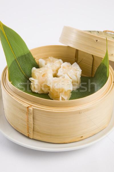 Bambu navio a vapor comida madeira restaurante café da manhã Foto stock © epstock