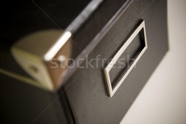 Corporate zwarte archief vak gewas Stockfoto © epstock