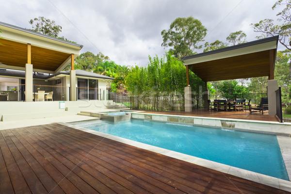 Stockfoto: Moderne · zwembad · stijlvol · australisch