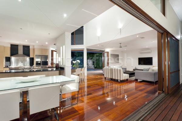 Moderne home luxueus interieur groot landschap Stockfoto © epstock