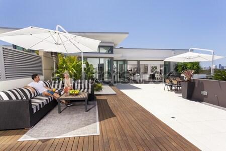 балкона роскошный пентхауз небе дома Сток-фото © epstock