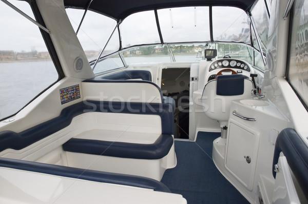 Interior imagem pequeno transporte lancha Foto stock © epstock