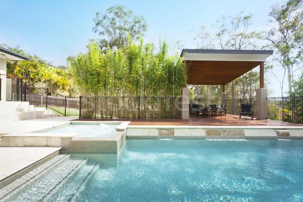Stockfoto: Zwembad · moderne · zwembad · stijlvol