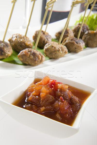Chutney with Meat Balls Stock photo © epstock