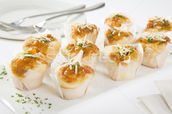 CHEESE & TOMATO RELISH MINI MUFFINS Stock photo © epstock