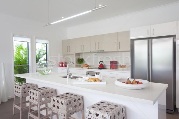 Kitchen in new modern townhouse Stock photo © epstock