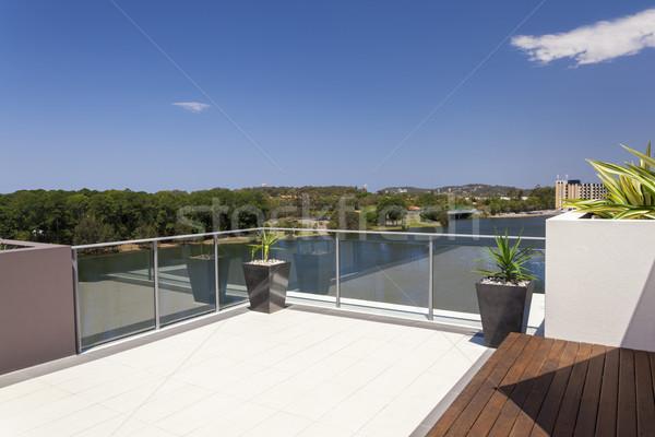 мнение балкона пригородный Солнечный дома домой Сток-фото © epstock
